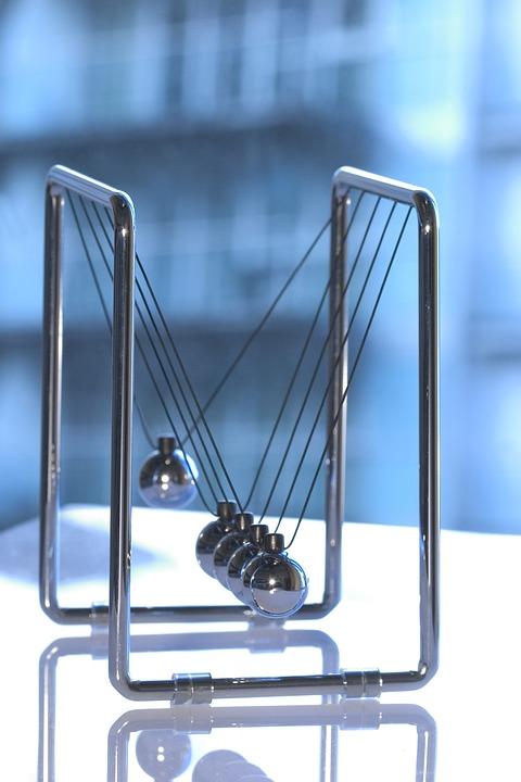 Newton's Cradle, Physics, Sphere, Pendulum, Business