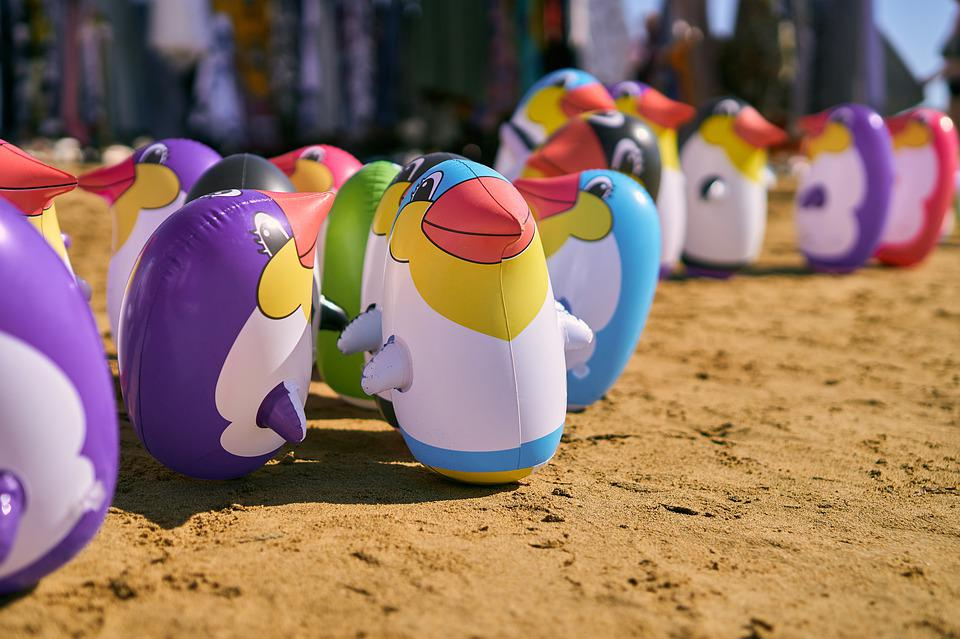 Water Toys, Penguin, Water Polo, Play, Fun, Children