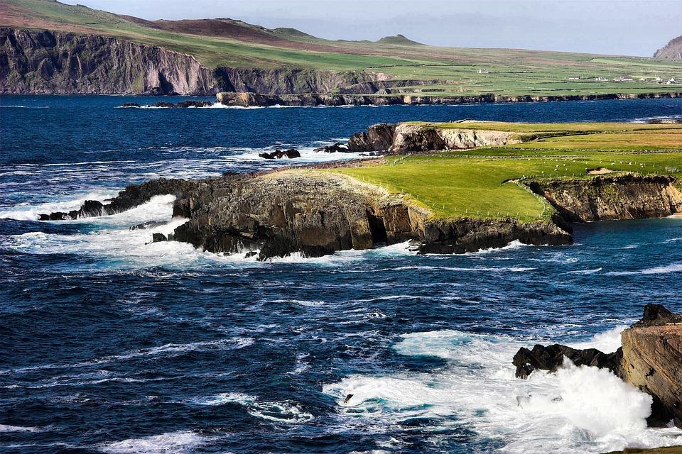 Ireland, Coast, Coastline, Peninsula, Ocean, Sea