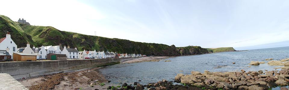 Scotland, Port, Panoramic, Pennan