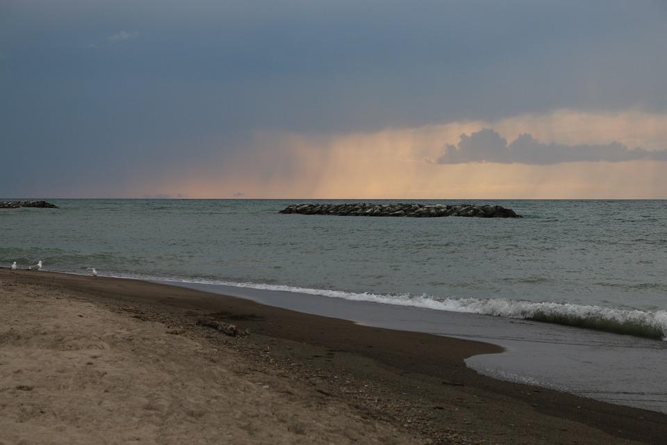 Presque Isle, Pennsylvania, Beach, Storms