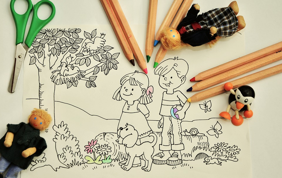 Coloring Pages For Kindergarten : Free photo pens coloring pages tinker kindergarten paint max pixel