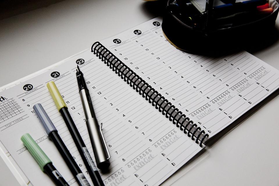 Planner, Open, Pens, Tombow, Weekly, Spread