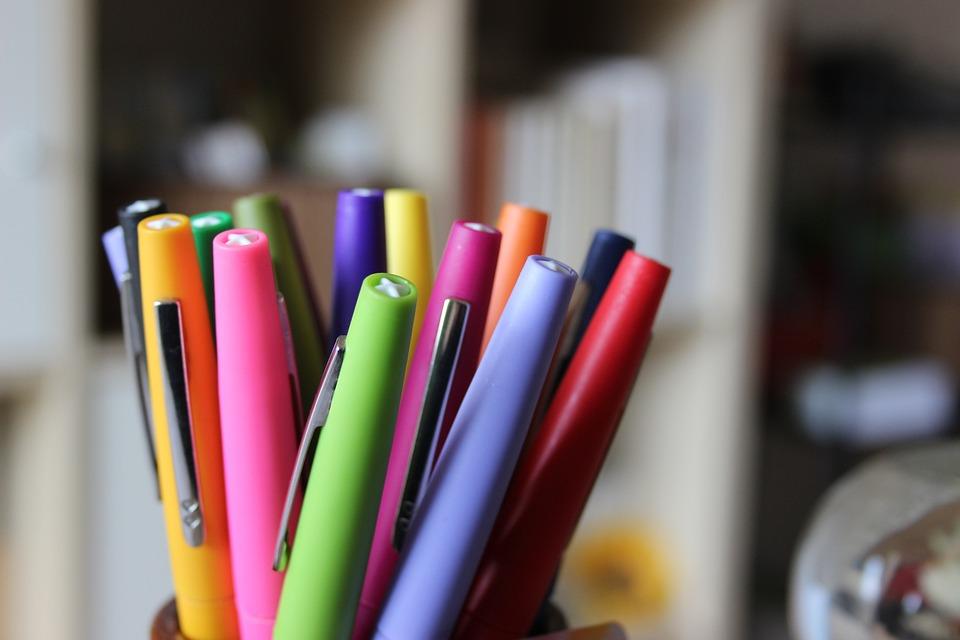 Pencils, Pens, Colors, Perspective
