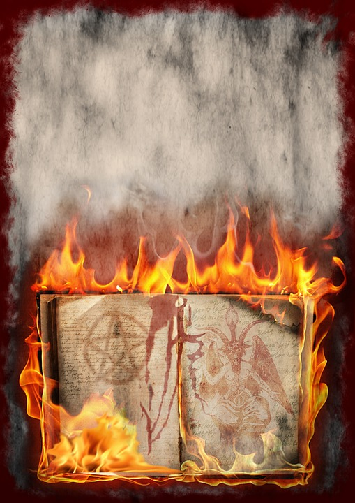 Book, Fire, Halloween, Pentacle, Background, Occultism