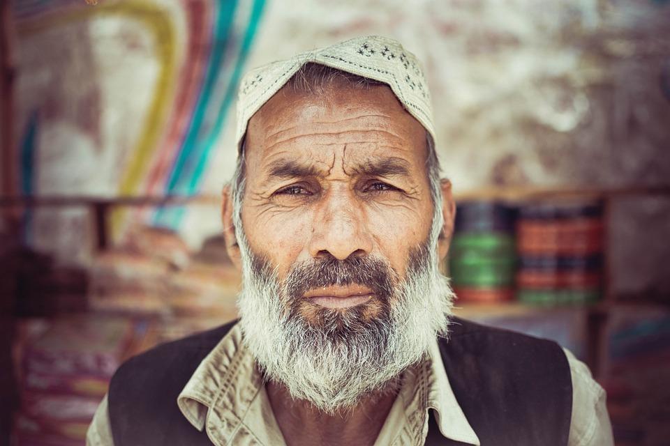 Portrait, People, Man, Adult, Mustache, Pakistan