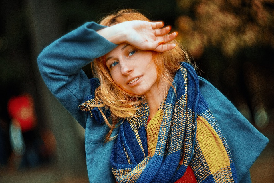 Portrait, People, Girl, Scarf, Autumn, Coat, Cute, View
