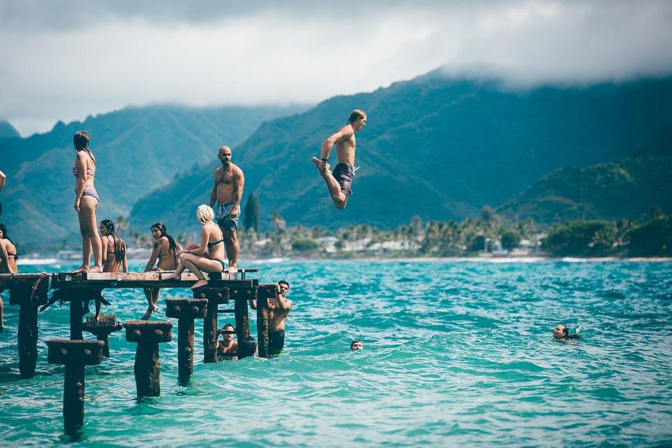 Beach, Fun, Landscape, Leisure, Ocean, People