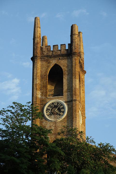 Bell Tower, Church, Cathedral, Tower, Campaign, People