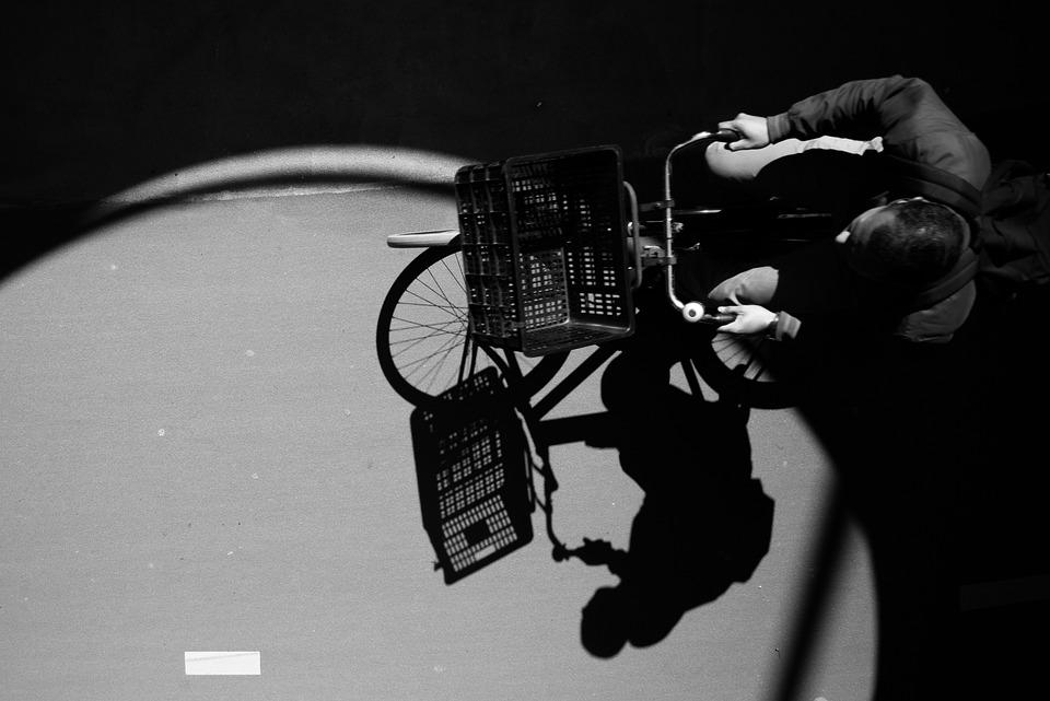 Bicycle, Man, Black And White, Bike, People, Biking