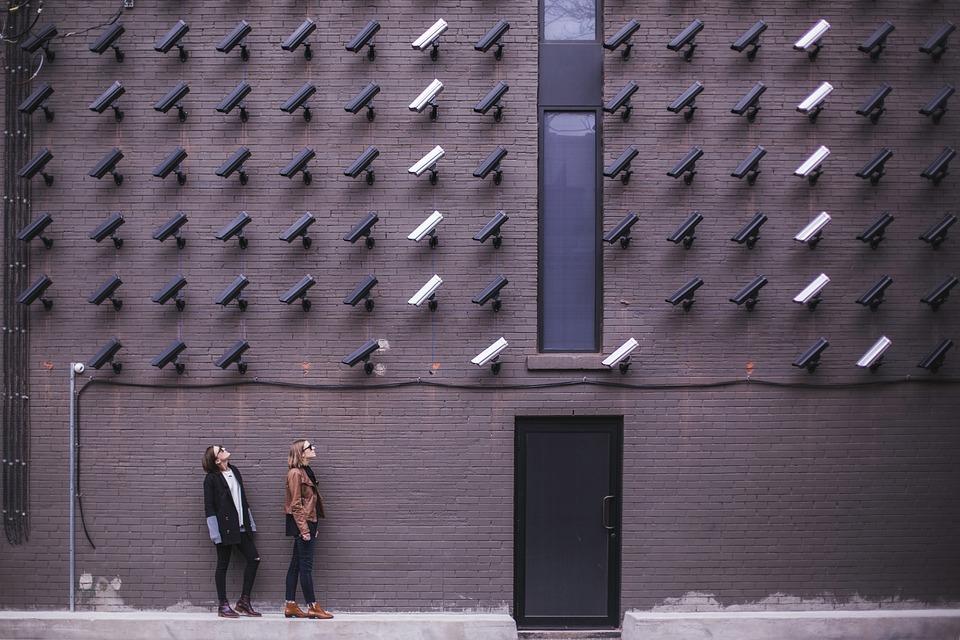 Surveillance, Bricks, Cameras, Girls, Women, People