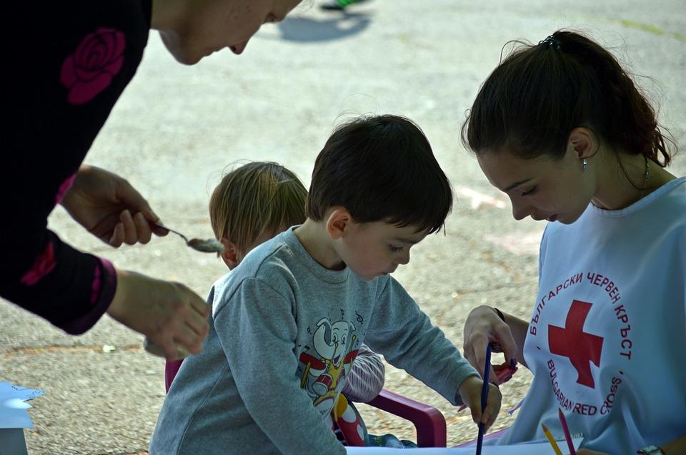 Child, Boy, People, Emotion, Park, Red Cross, Help