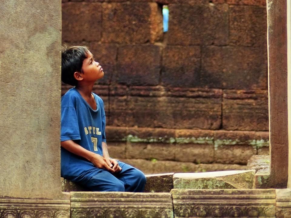 Boy, Cambodia, People, Child, Asian, Kid