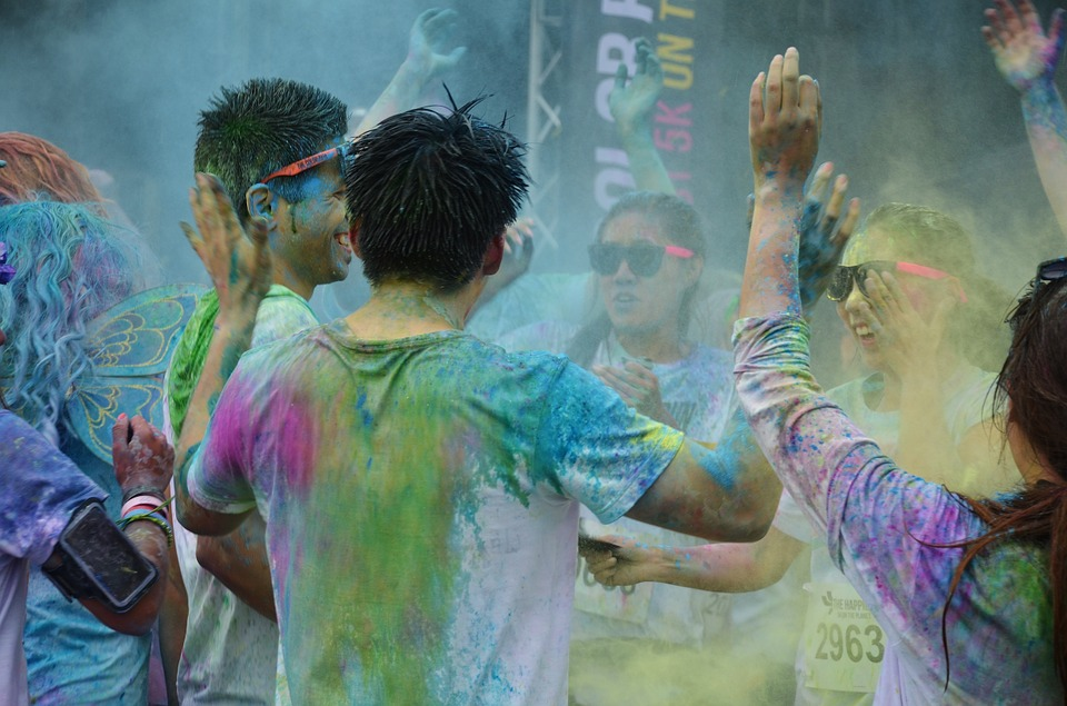 People, Colorful, Funny, Color Run Festivals