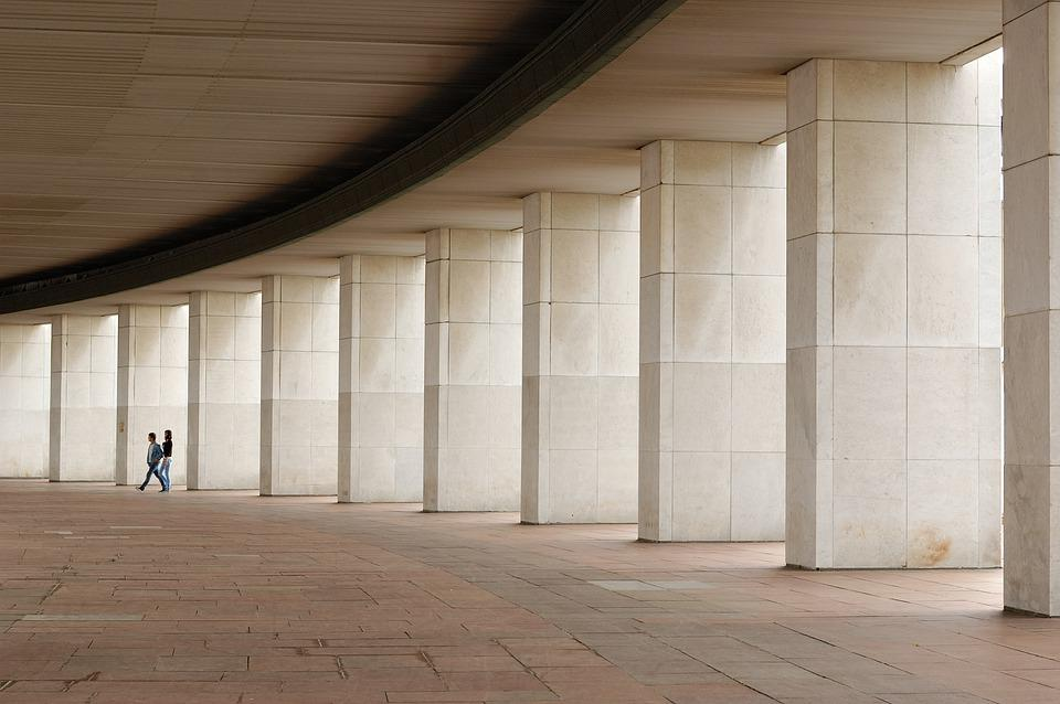 Columns, Lines, Couple, People, Geometry, Repetitions
