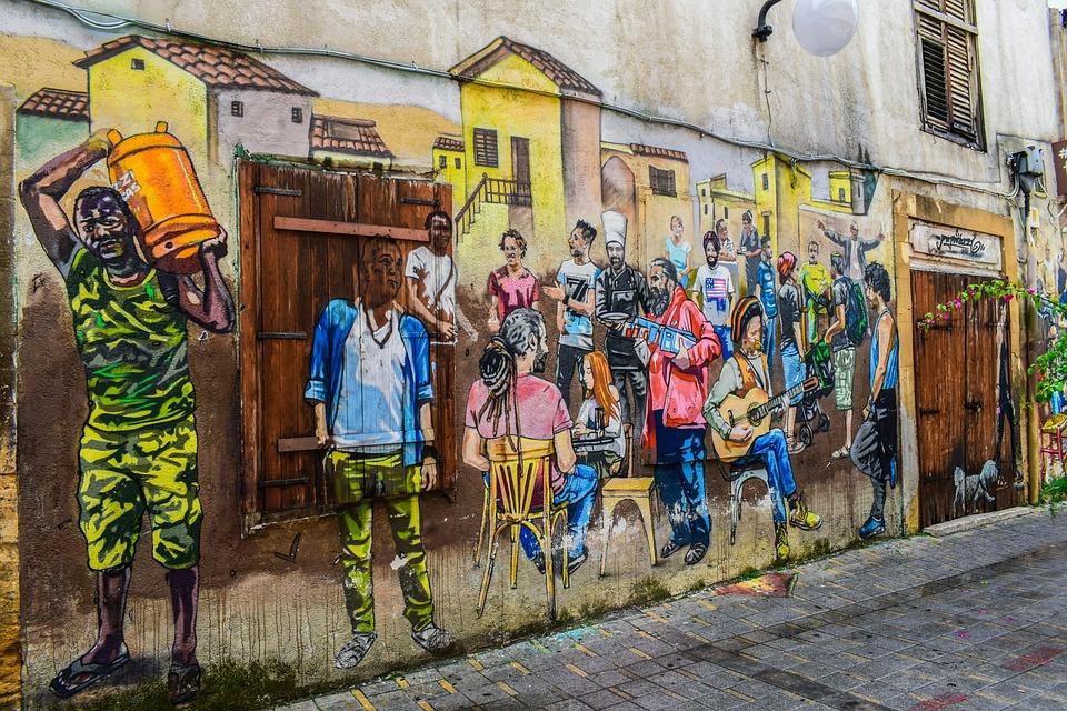Graffiti, Street, People, Culture, Immigration, City