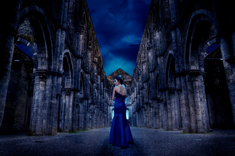 Woman, People, Fashion, Lady, Gown, Blue Gown, Formal