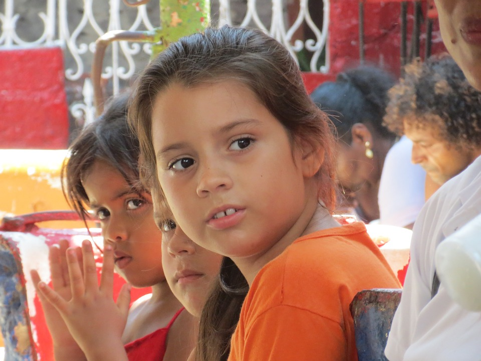Children, Cuba, Latin, Summer, People, Kid, Girls