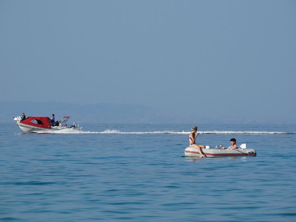 Boat, Great, People, Blue, Seaside