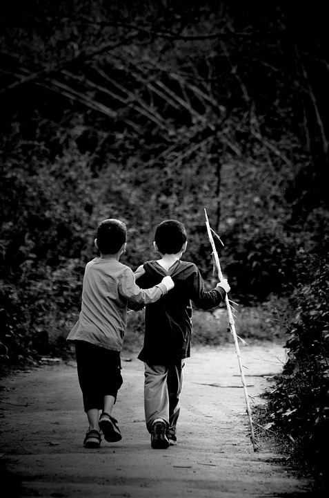 People, Two, Monochrome, Blur, Hands, Young, Freindship
