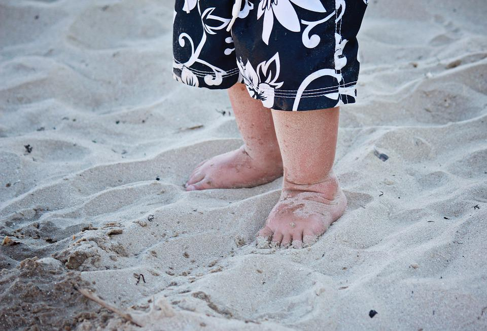 Feet, Toes, Barefoot, Sand, Beach, People, Skin, Human