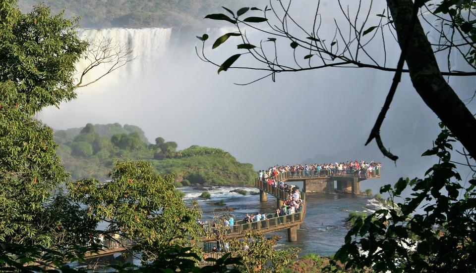 Iguazu Falls, Brazil, Tour, Viewpoint, People