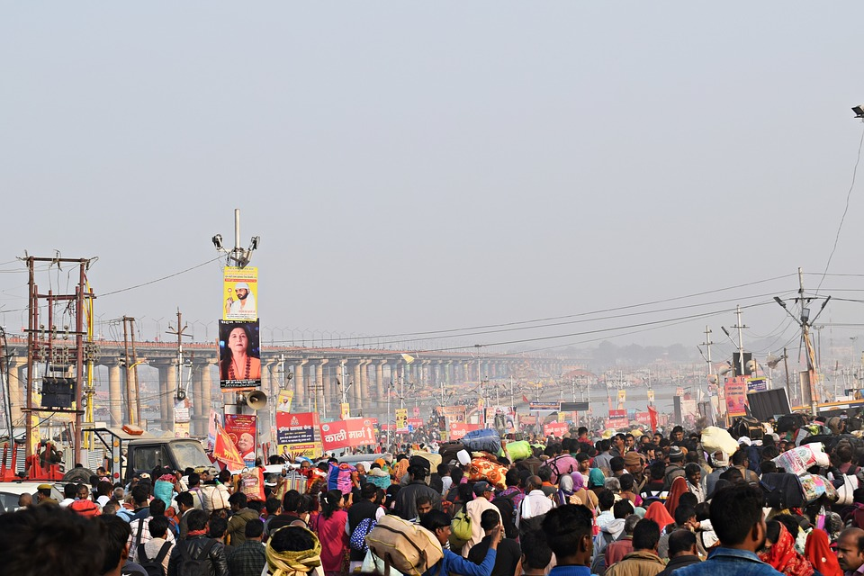 Pragraj, Kumbh, Crowd, People, India, Culture, Portrait