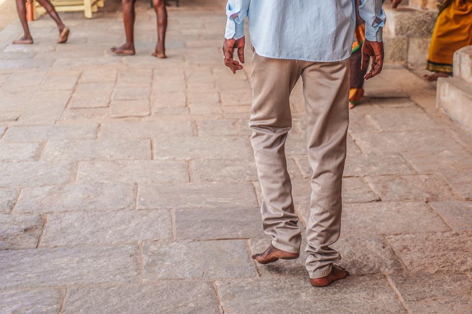 Men, Walking, Leaving, One Person, People, Rear View