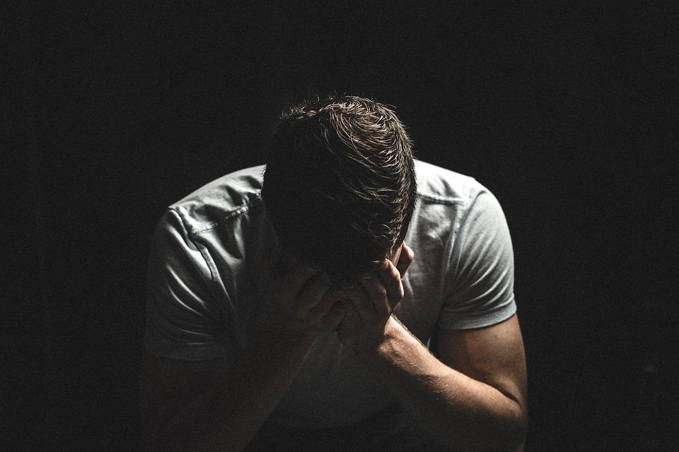 Guy, Man, People, Dark, Shadow, Hands, Sad, Crying