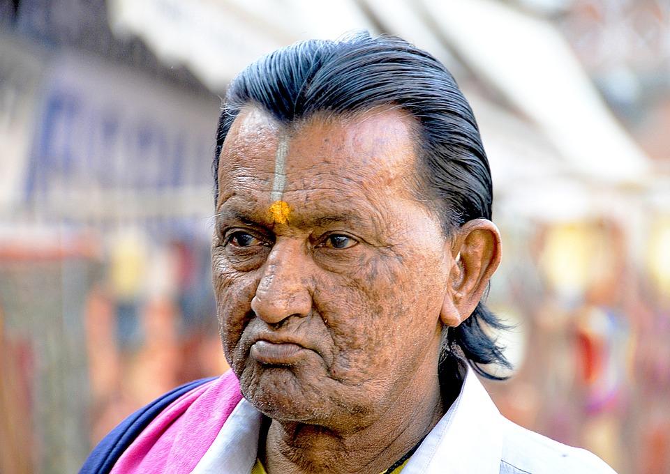 India, Man, People, Old, Portrait, Asia, Wrinkles