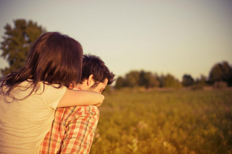 Man, Woman, Couple, Piggyback, Love, Happy, People