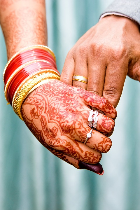 Love, Holding Hands, Mehendi, Couple, People