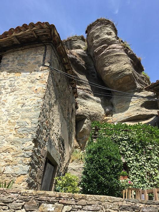 People, Mountain, Houses, Mountain Landscape, Catalonia