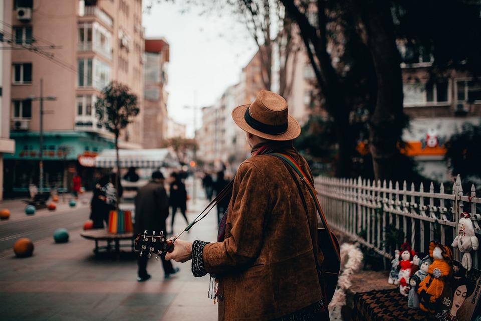 Street, Guitar, Musician, People, Instrument, Culture