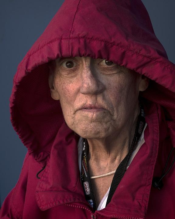 People, Portrait, Woman, Elderly, Cleft, Palate