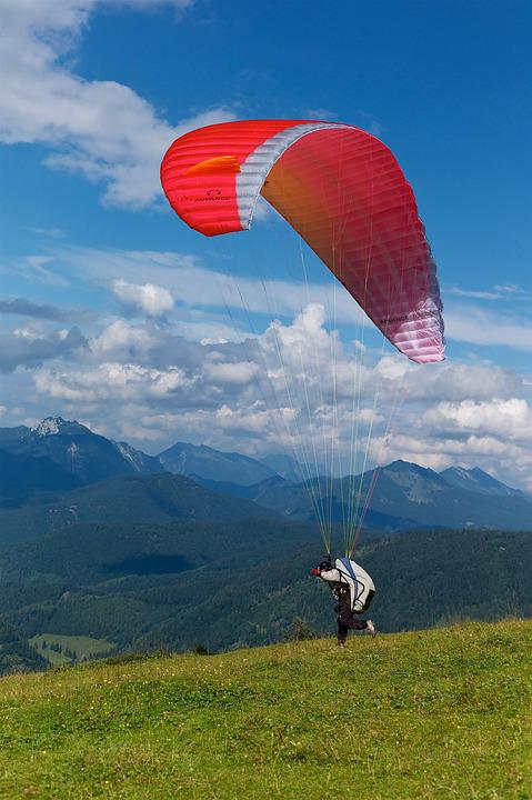 Paraglider, Sky, Paragliding, Freedom, Clouds, People