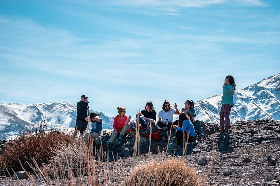 Hikers, Group, Peak, People, Mountain, Hiking