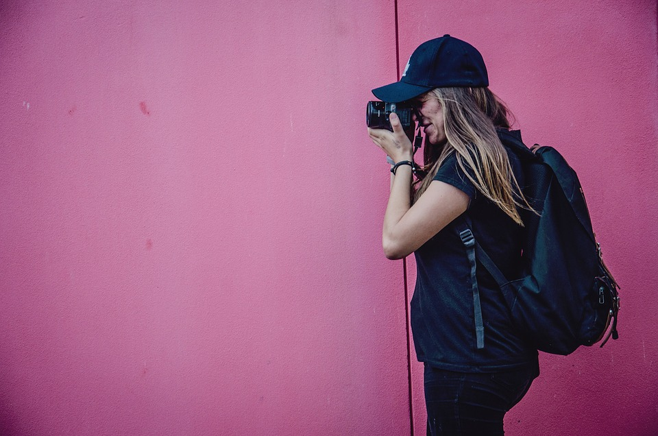Pink, Walls, People, Girl, Lady, Woman, Photographer