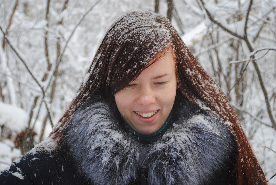 Winter, Coldly, Portrait, Snow, People, Person, Woman