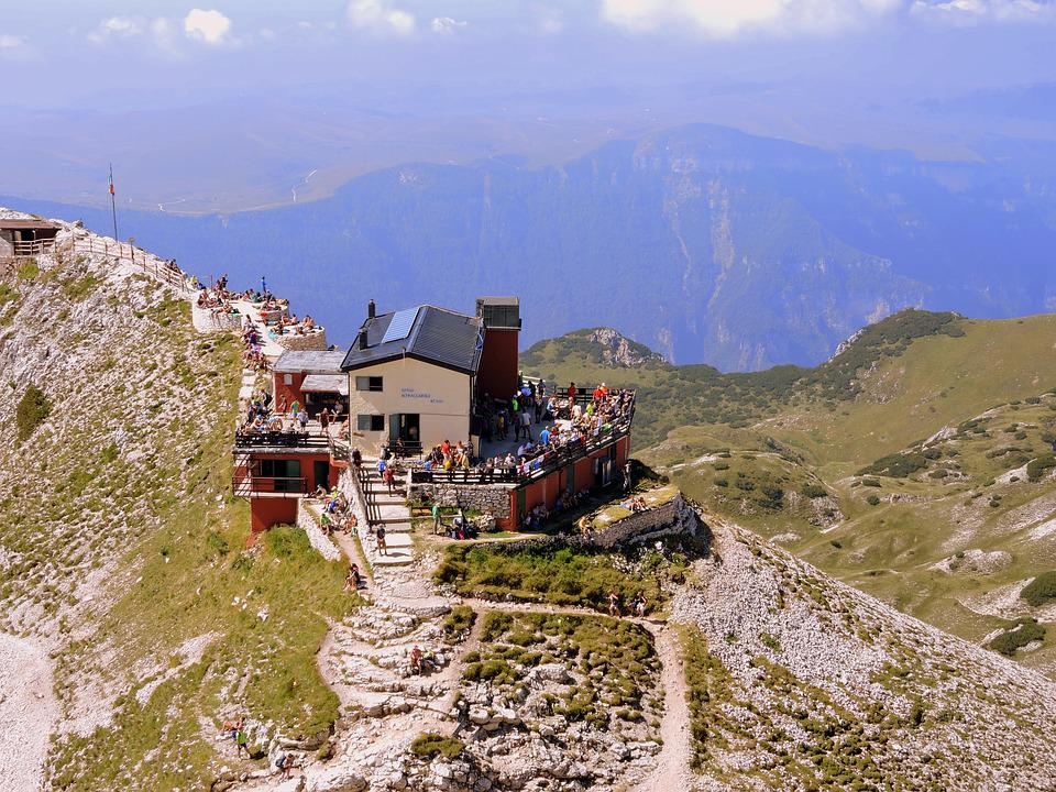 Refuge, Trentino, Tourists, Excursion, Italy, People