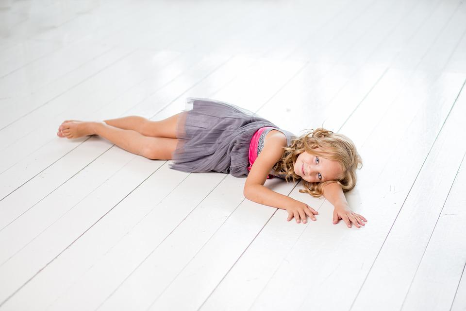 Girl, Lying, Relax, Young, White, Happy, Child, People