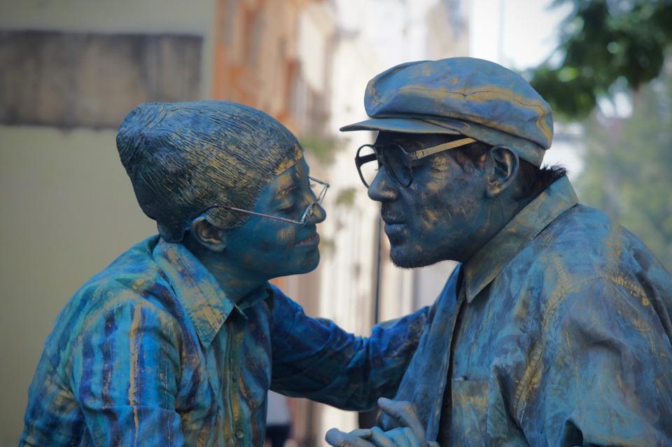 Living Statues, Love, Dance, Couple, Romantic, People