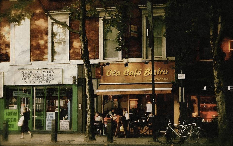 Outdoor, Café, Shop, People, Relax, City, View