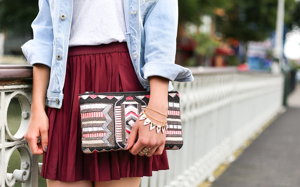 People, Woman, Fashion, Clothes, Skirt, Denim, Casual