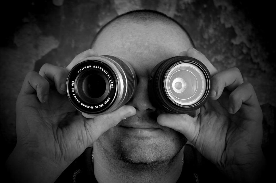 Lens, People, Male, Equipment, Spy, Adult, The Darkness