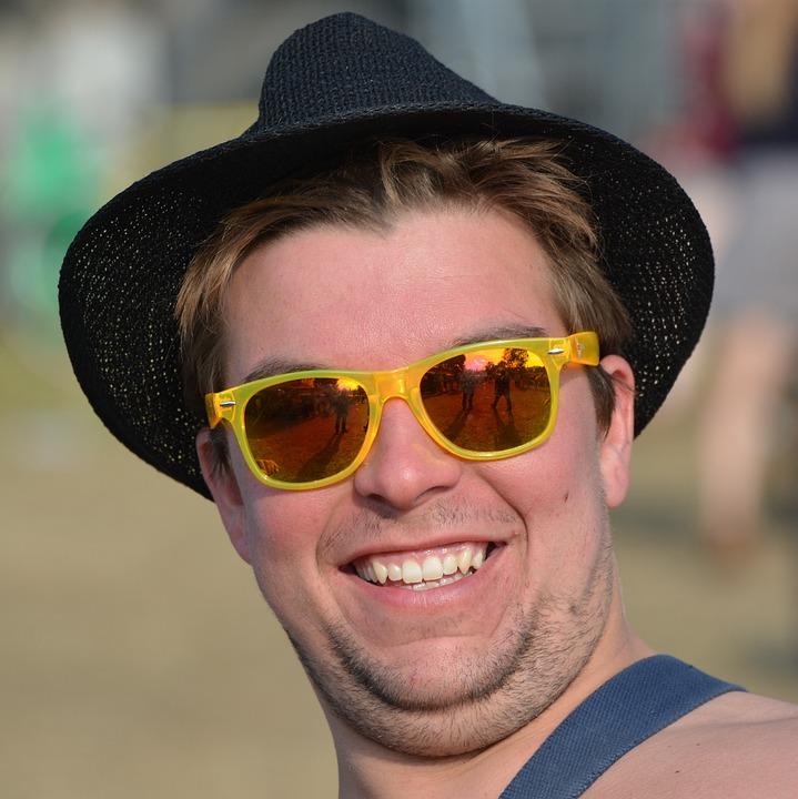 Man, Pet, Sunglasses, People