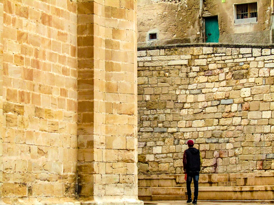 Tortosa, Young, Guy, City, Village, People, Tourism
