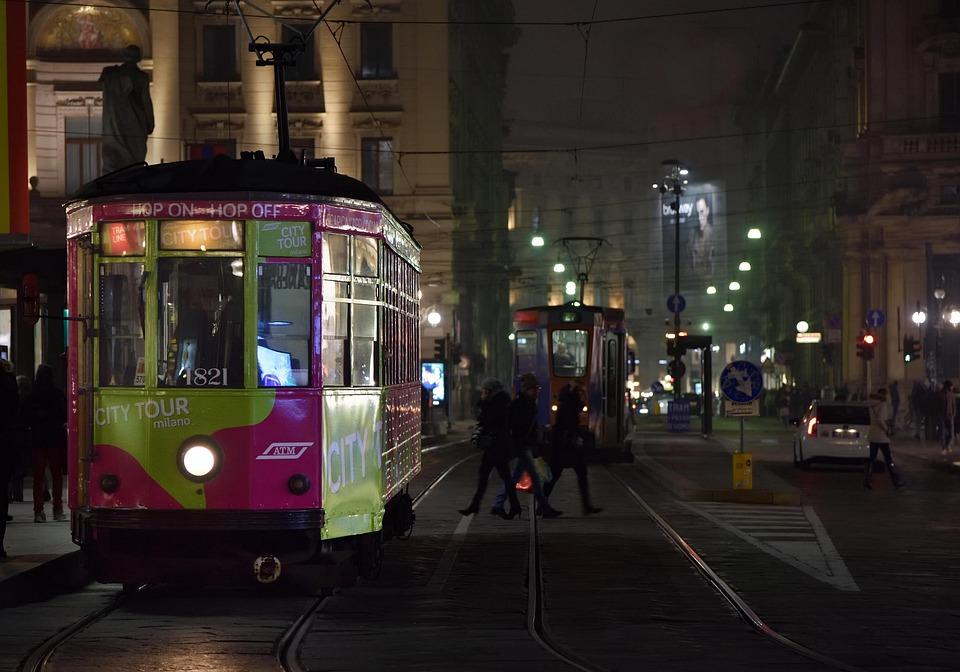 Tram, Milan, Tracks, People, Trip, Transport, City
