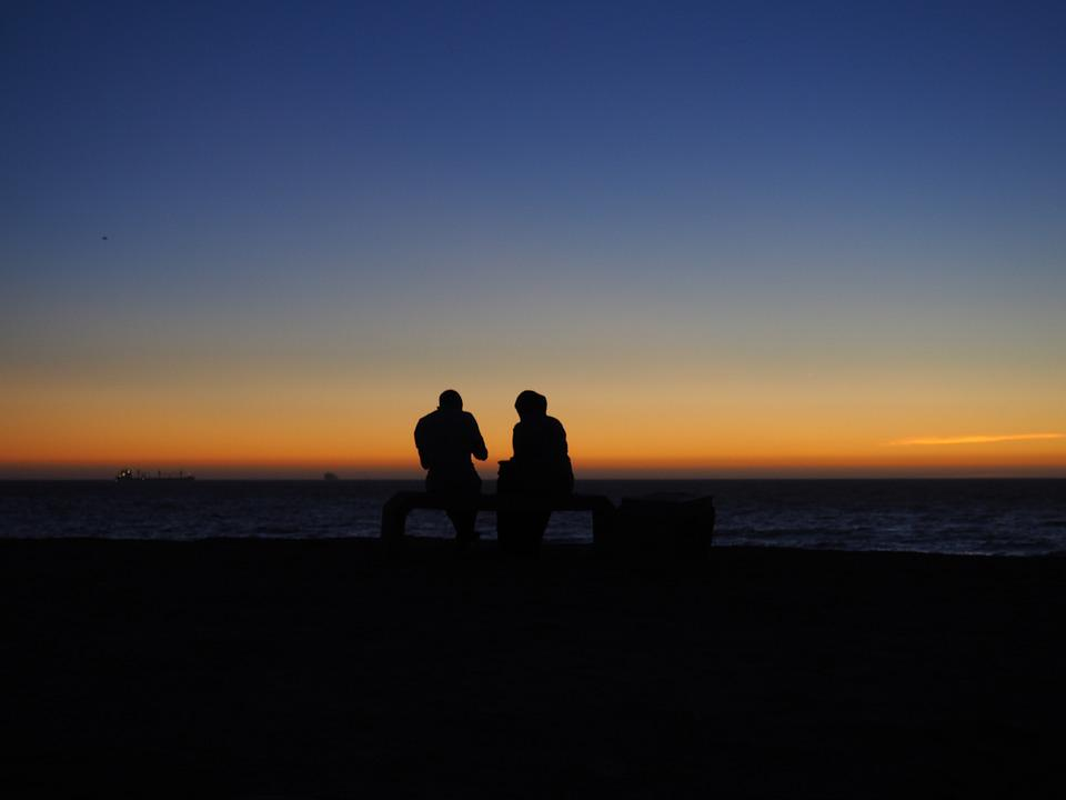 Twilight, People, Sea, Relationship, Man And Woman