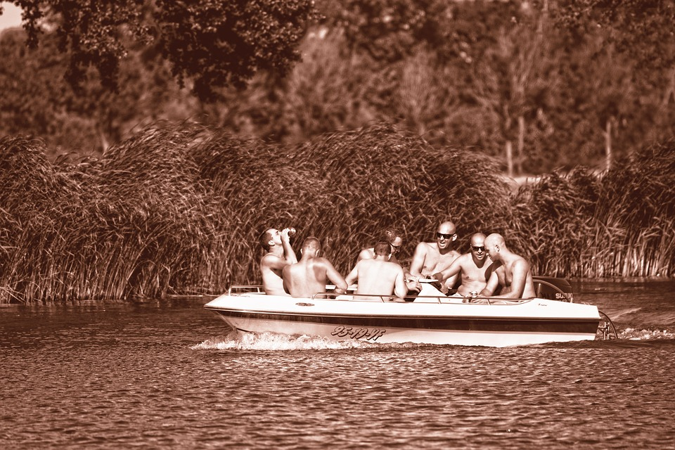 People, Man, Body, Bare, Water, River, Boat, Boat Ride